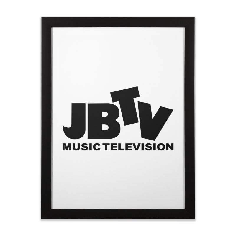 JBTV Music Television Black Home Framed Fine Art Print by JBTV