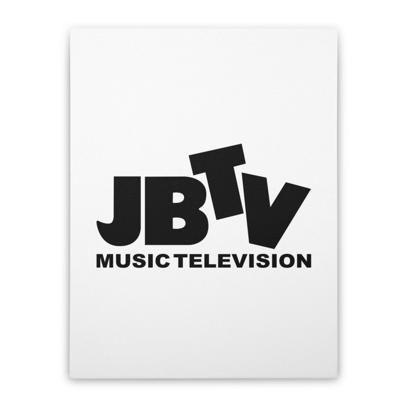 JBTV Music Television Black Home Stretched Canvas by JBTV's Artist Shop