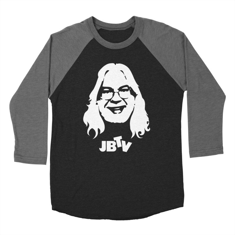 Jerry logo in Men's Baseball Triblend Longsleeve T-Shirt Grey Triblend Sleeves by JBTV
