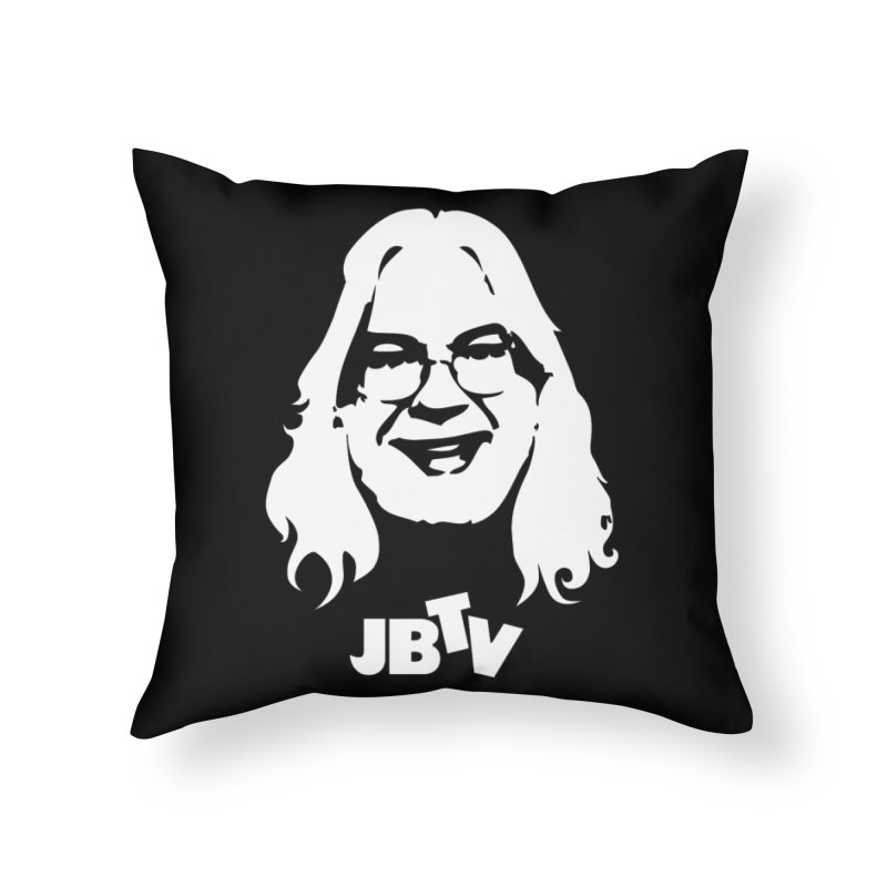 Jerry logo in Throw Pillow by JBTV's Artist Shop