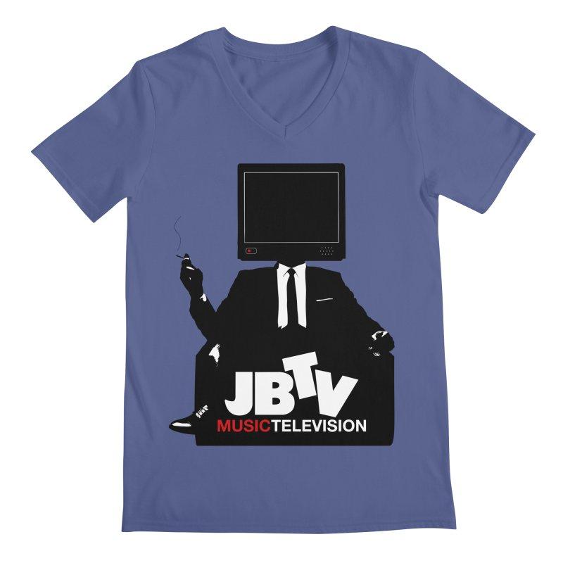 MAD FOR JBTV in Men's V-Neck Heather Blue by JBTV's Artist Shop