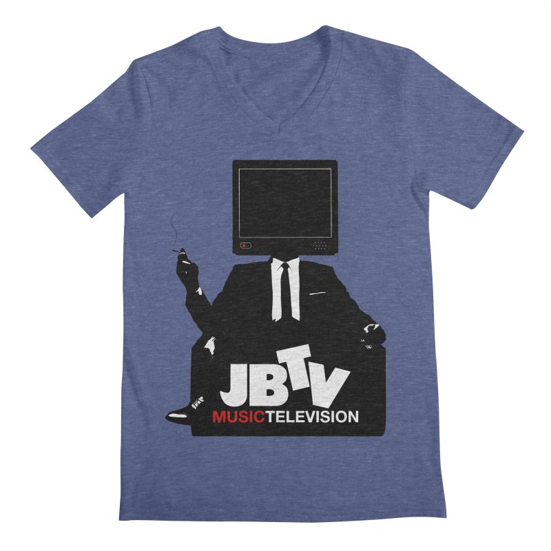 MAD FOR JBTV in Men's V-Neck Heather Blue by JBTV's Artist Shop