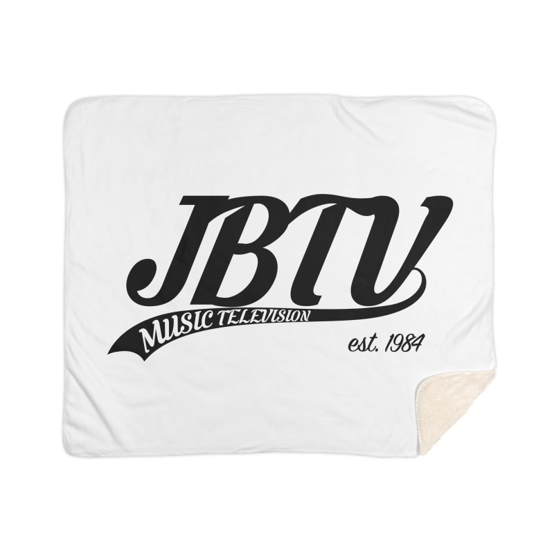 JBTV Retro Baseball Shirt Home Sherpa Blanket Blanket by JBTV