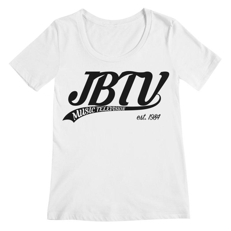 JBTV Retro Baseball Shirt Women's Regular Scoop Neck by JBTV