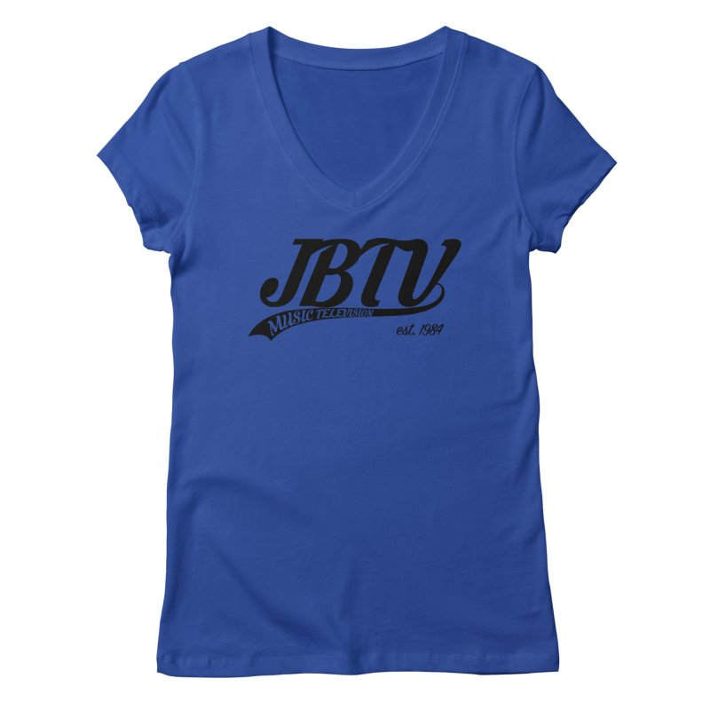JBTV Retro Baseball Shirt Women's Regular V-Neck by JBTV's Artist Shop