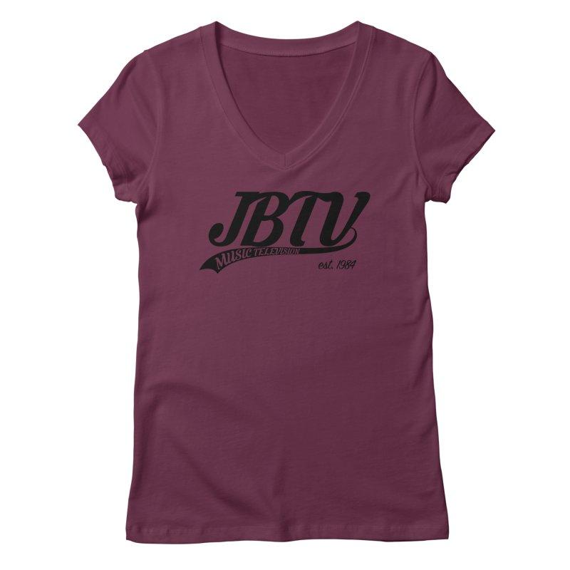 JBTV Retro Baseball Shirt Women's Regular V-Neck by JBTV