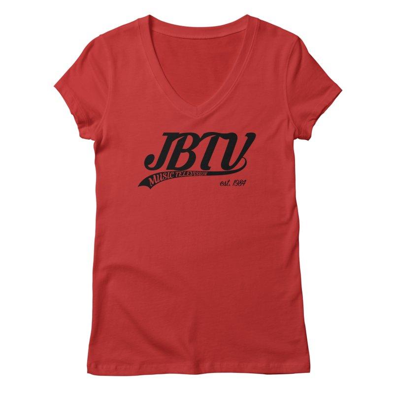 JBTV Retro Baseball Shirt Women's V-Neck by JBTV's Artist Shop