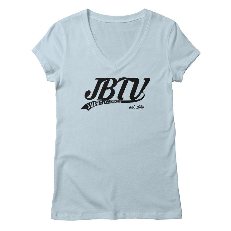 JBTV Retro Baseball Shirt Women's V-Neck by JBTV