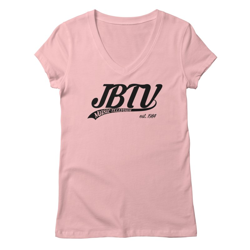 JBTV Retro Baseball Shirt Women's Regular V-Neck by JBTV
