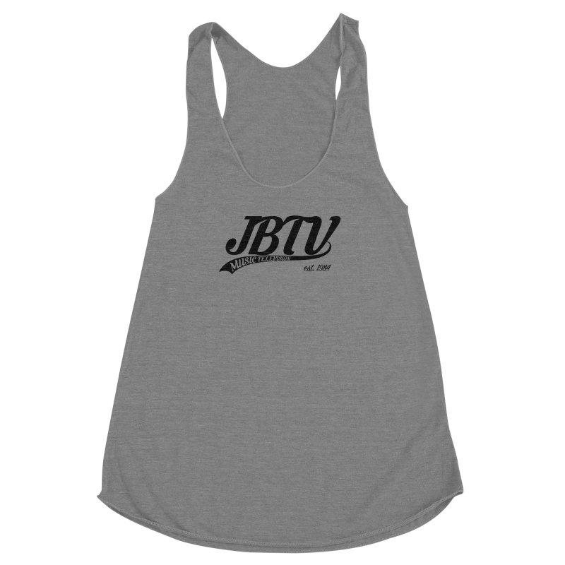 JBTV Retro Baseball Shirt Women's Racerback Triblend Tank by JBTV's Artist Shop