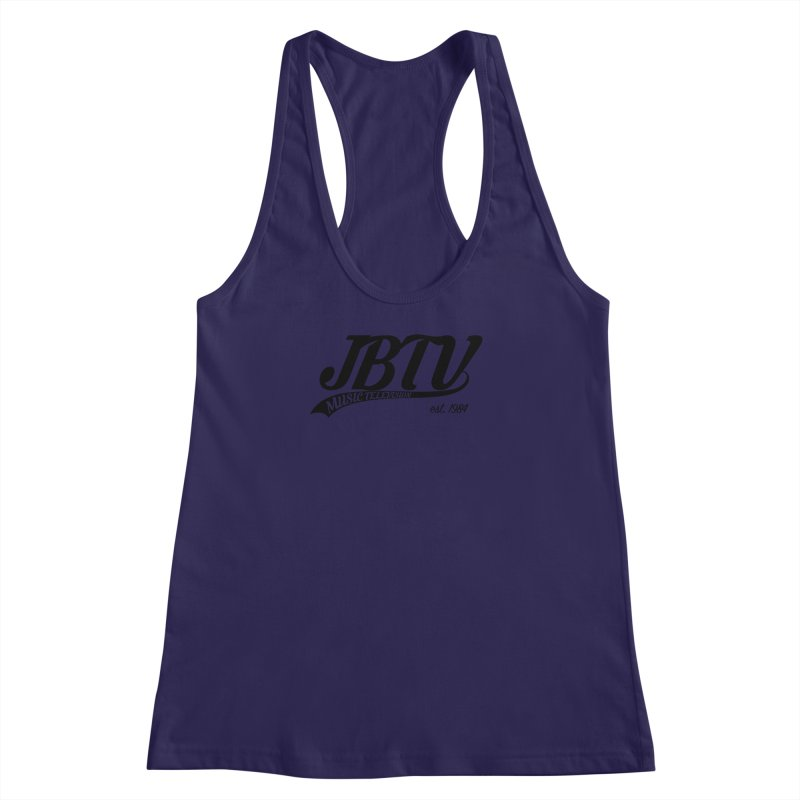 JBTV Retro Baseball Shirt Women's Racerback Tank by JBTV's Artist Shop