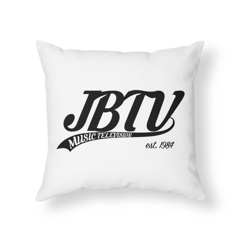 JBTV Retro Baseball Shirt Home Throw Pillow by JBTV's Artist Shop