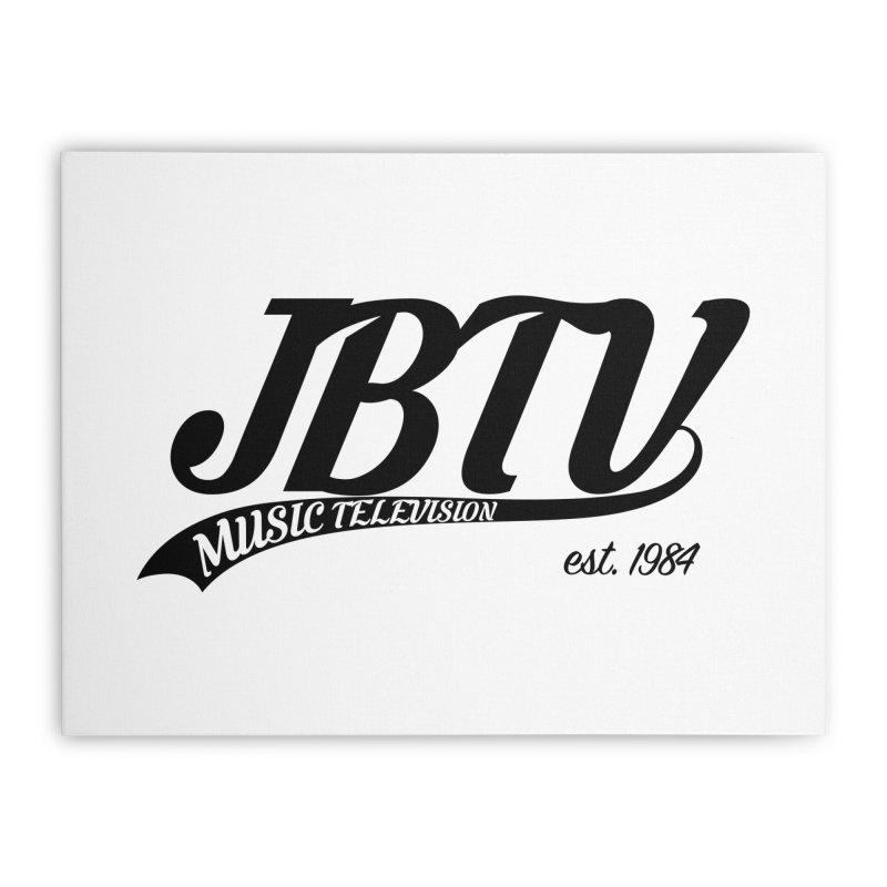 JBTV Retro Baseball Shirt Home Stretched Canvas by JBTV's Artist Shop