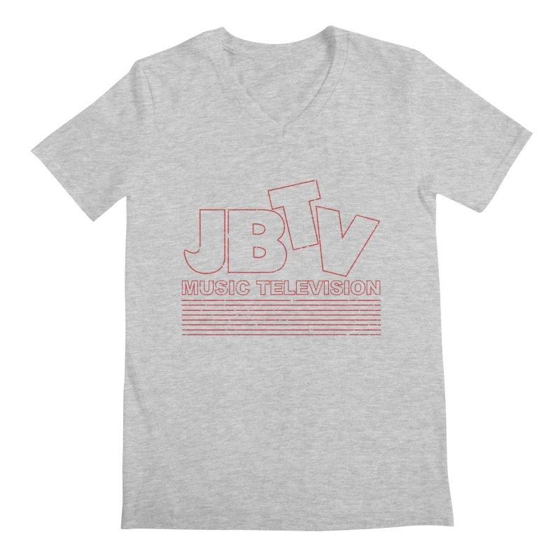 Edgy Design #2 (Red) Men's Regular V-Neck by JBTV