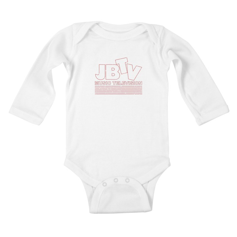 Edgy Design #2 (Red) Kids Baby Longsleeve Bodysuit by JBTV's Artist Shop
