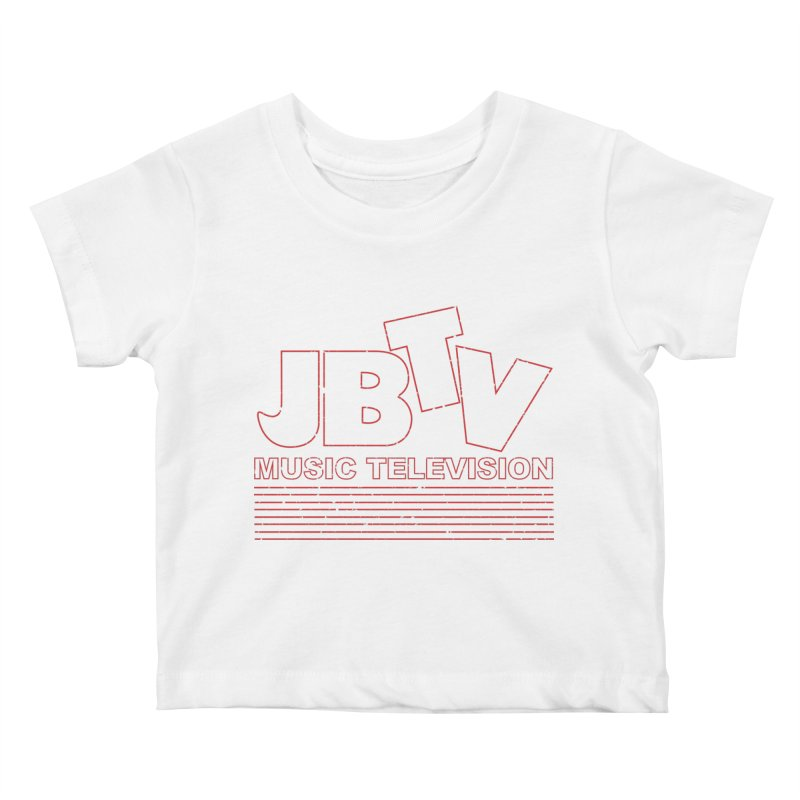 Edgy Design #2 (Red) Kids Baby T-Shirt by JBTV's Artist Shop