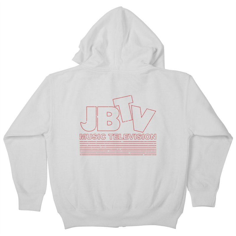 Edgy Design #2 (Red) Kids Zip-Up Hoody by JBTV's Artist Shop
