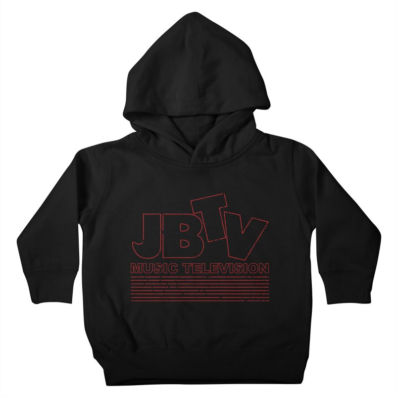 Edgy Design #2 (Red) Kids Toddler Pullover Hoody by JBTV