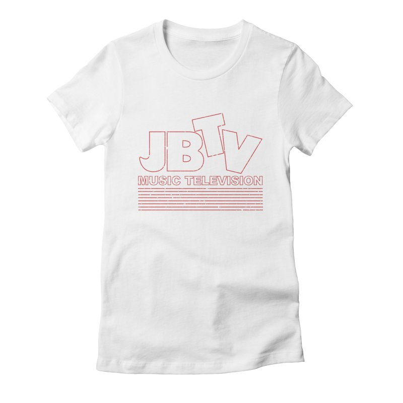 Edgy Design #2 (Red) Women's Fitted T-Shirt by JBTV's Artist Shop