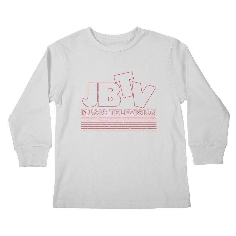 Edgy Design #2 (Red) Kids Longsleeve T-Shirt by JBTV