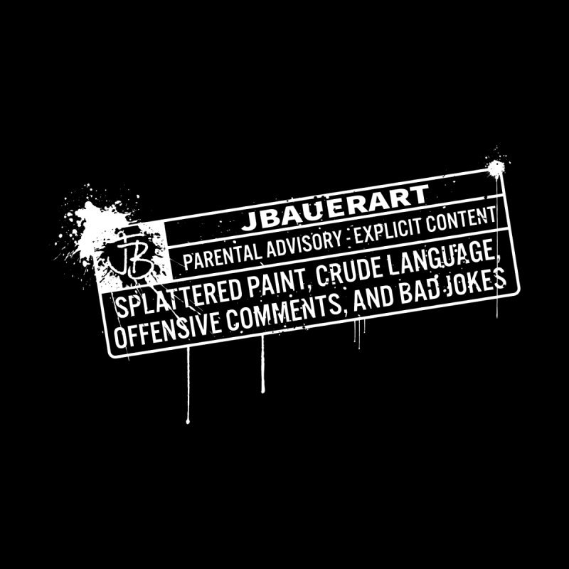 JBauerart Parental Advisory Men's V-Neck by JBauerart's Artist Shop