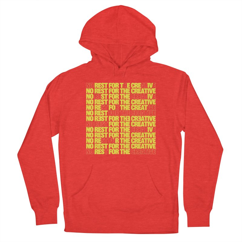 No Rest For The Creative (Yellow) Men's Pullover Hoody by JBauerart's Artist Shop