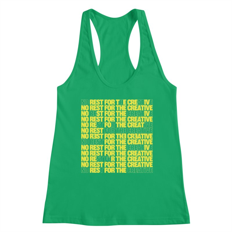 No Rest For The Creative (Yellow) Women's Tank by JBauerart's Artist Shop