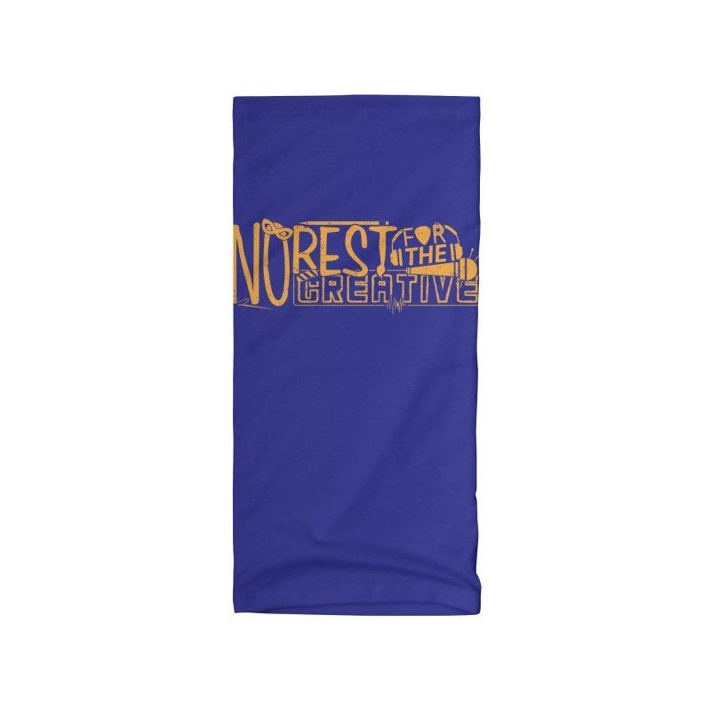 The Creative Do Not Rest (Orange/Yellow) Accessories Neck Gaiter by JBauerart's Artist Shop