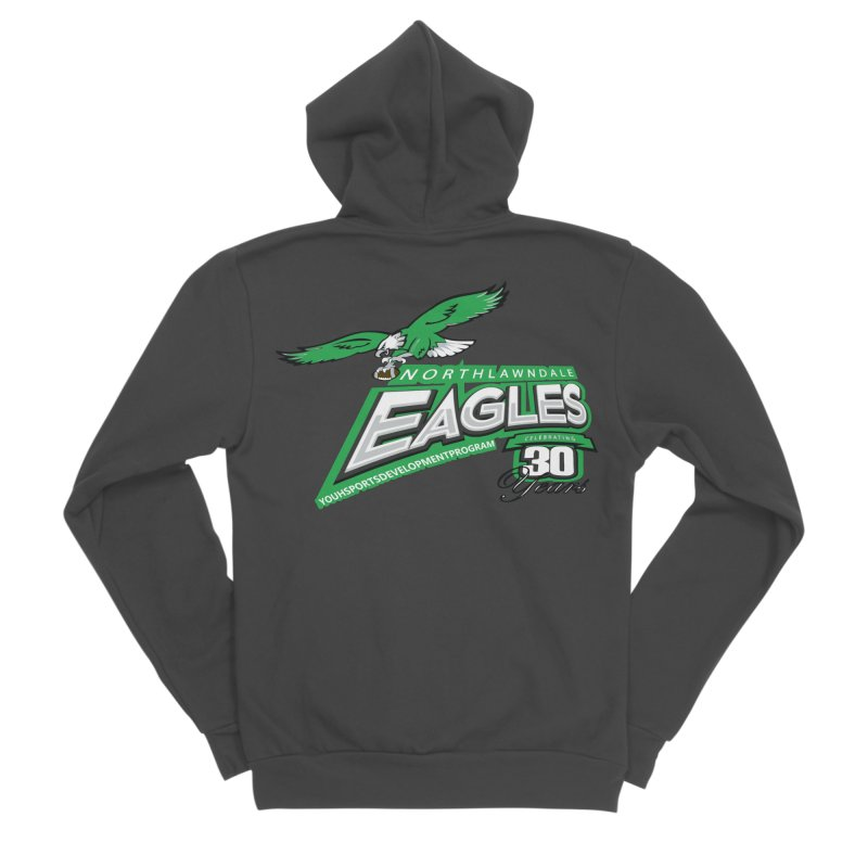 North Lawndale Eagles 30 Year Anniversary Men's Sponge Fleece Zip-Up Hoody by J. Brantley Design Shop