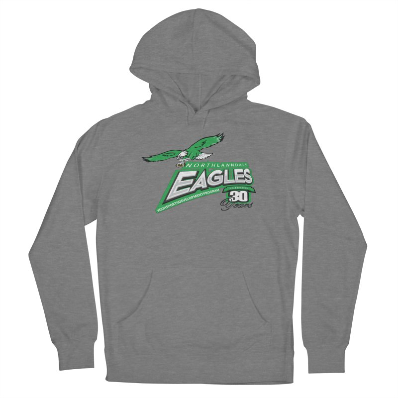 North Lawndale Eagles 30 Year Anniversary Men's French Terry Pullover Hoody by J. Brantley Design Shop