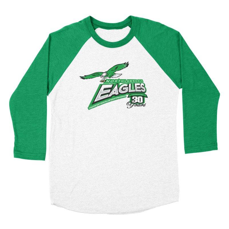 North Lawndale Eagles 30 Year Anniversary Men's Baseball Triblend Longsleeve T-Shirt by J. Brantley Design Shop