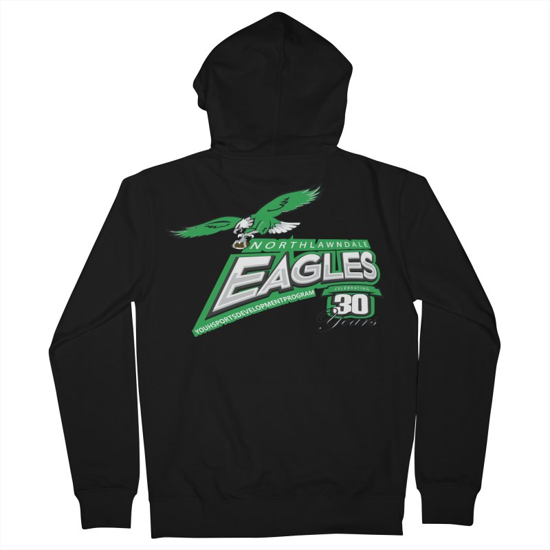 North Lawndale Eagles 30 Year Anniversary Men's French Terry Zip-Up Hoody by J. Brantley Design Shop