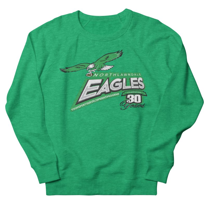 North Lawndale Eagles 30 Year Anniversary Men's French Terry Sweatshirt by J. Brantley Design Shop