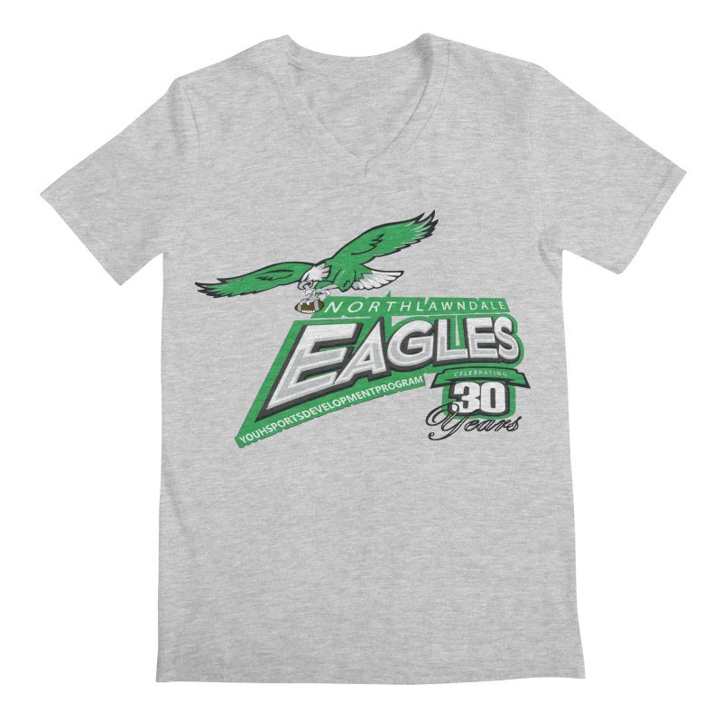 North Lawndale Eagles 30 Year Anniversary Men's Regular V-Neck by J. Brantley Design Shop