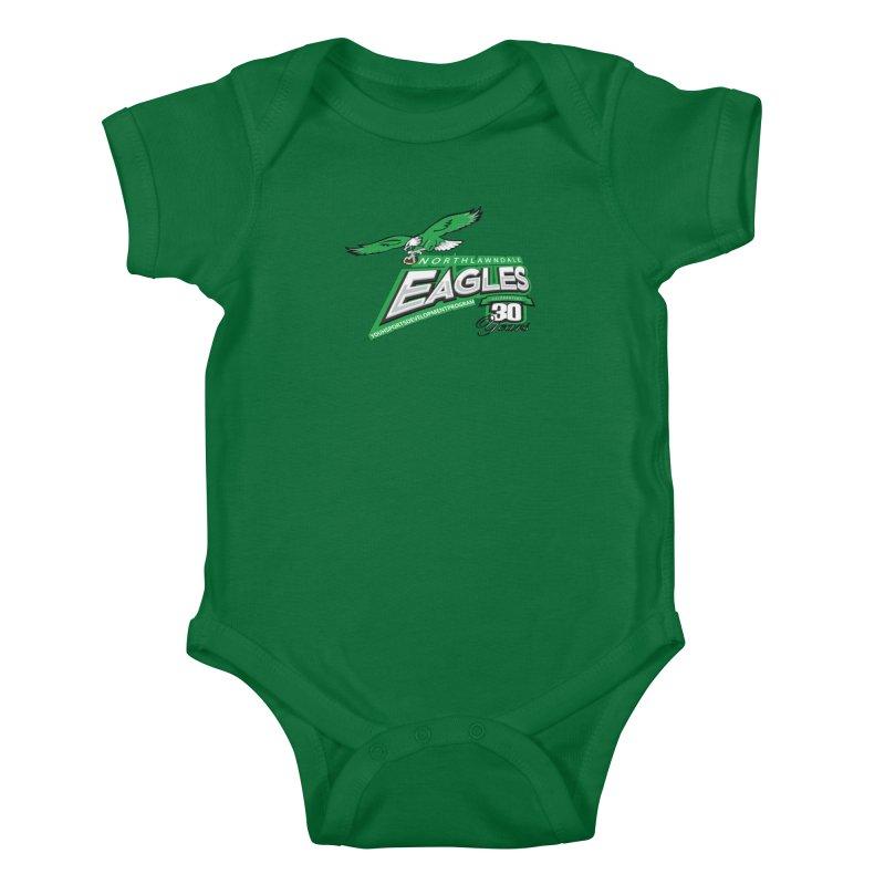 North Lawndale Eagles 30 Year Anniversary Kids Baby Bodysuit by J. Brantley Design Shop