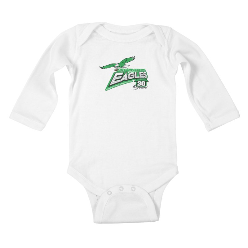 North Lawndale Eagles 30 Year Anniversary Kids Baby Longsleeve Bodysuit by J. Brantley Design Shop