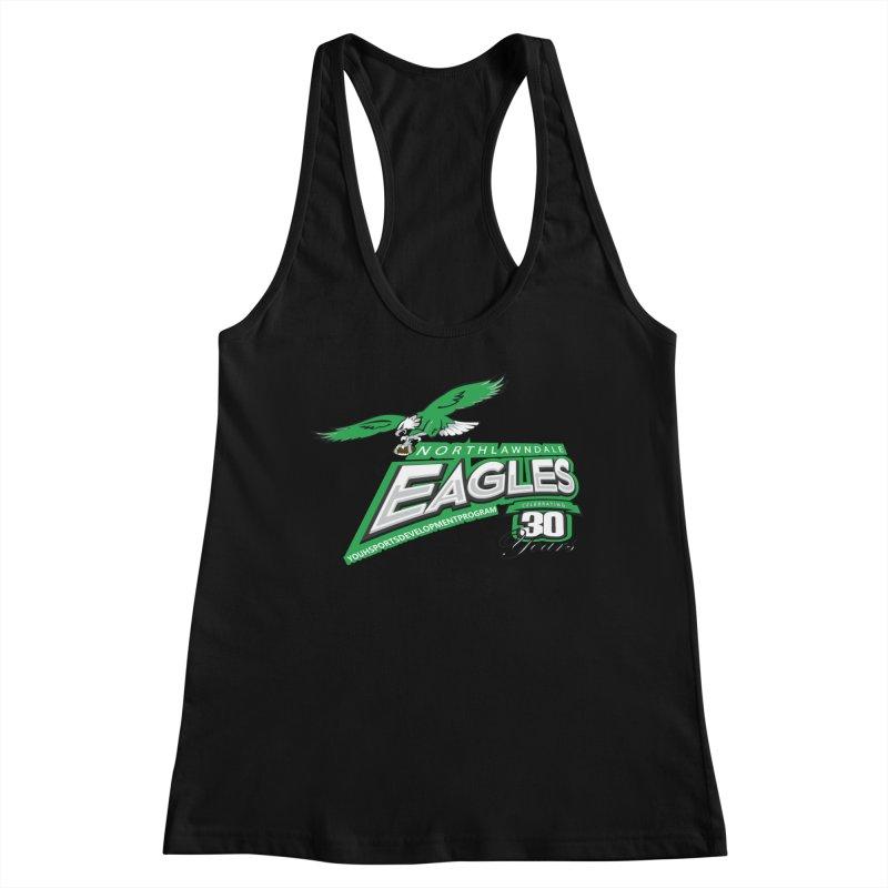 North Lawndale Eagles 30 Year Anniversary Women's Racerback Tank by J. Brantley Design Shop