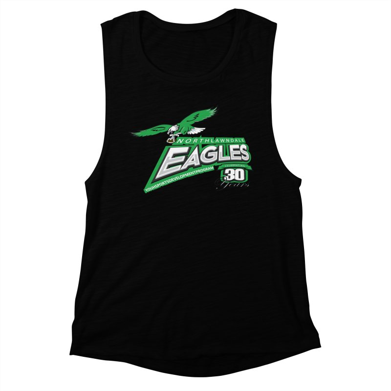 North Lawndale Eagles 30 Year Anniversary Women's Muscle Tank by J. Brantley Design Shop