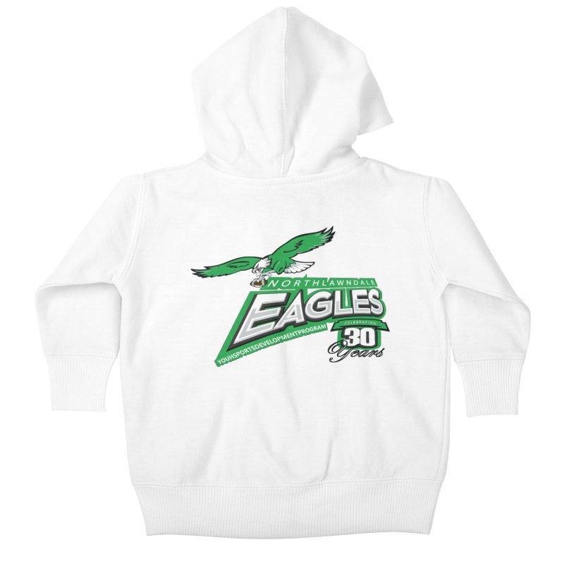 North Lawndale Eagles 30 Year Anniversary Kids Baby Zip-Up Hoody by J. Brantley Design Shop