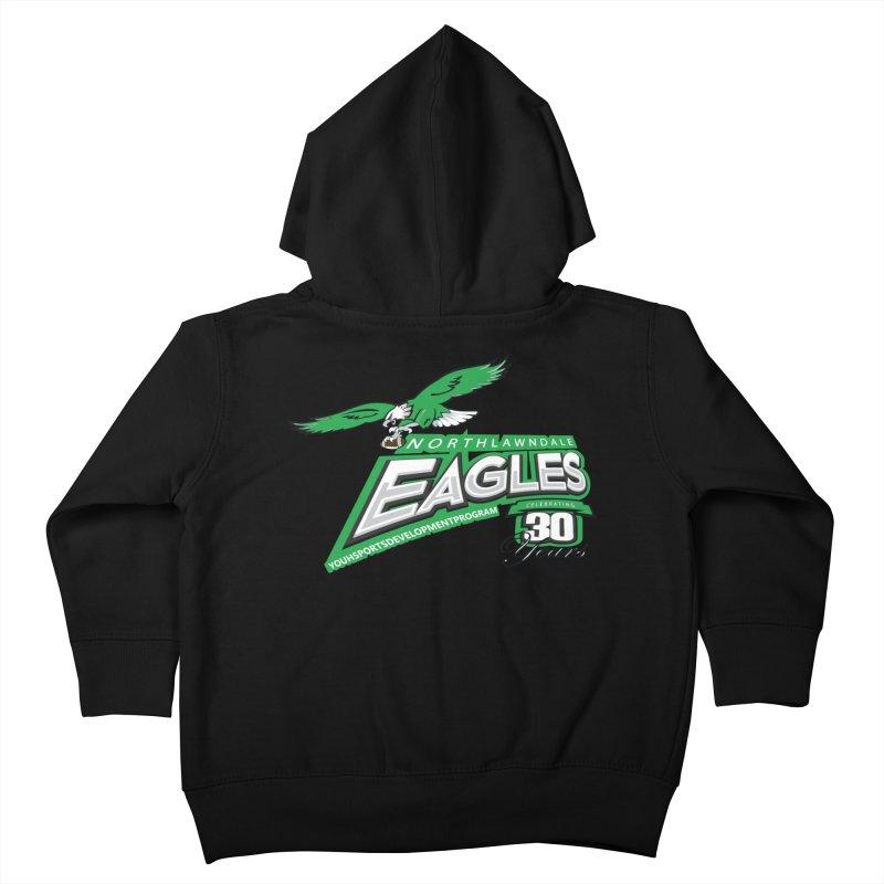 North Lawndale Eagles 30 Year Anniversary Kids Toddler Zip-Up Hoody by J. Brantley Design Shop