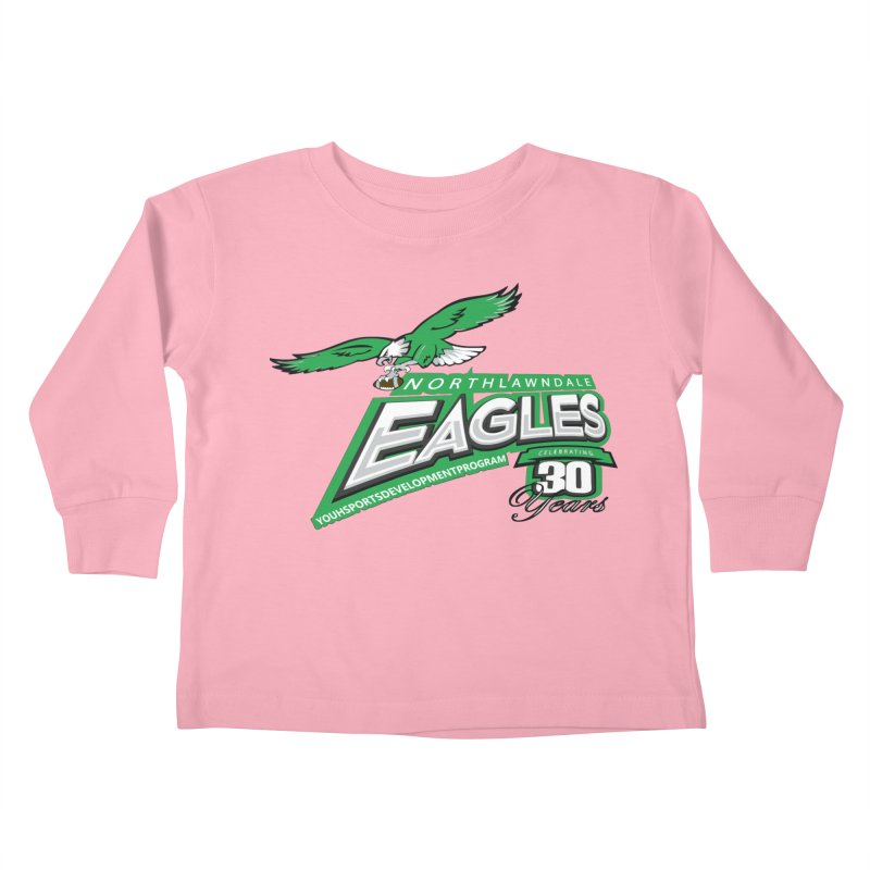North Lawndale Eagles 30 Year Anniversary Kids Toddler Longsleeve T-Shirt by J. Brantley Design Shop