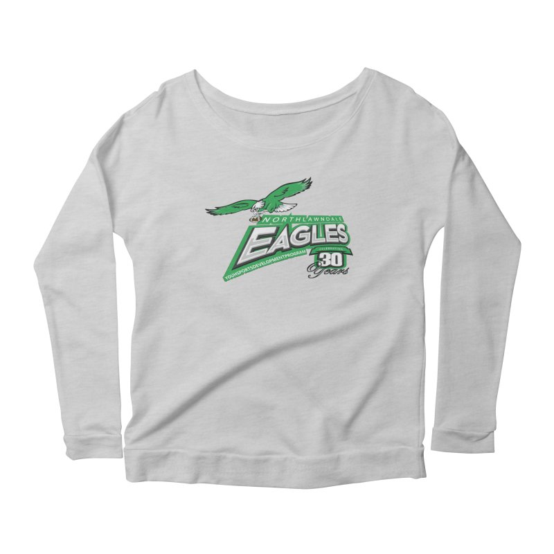 North Lawndale Eagles 30 Year Anniversary Women's Scoop Neck Longsleeve T-Shirt by J. Brantley Design Shop