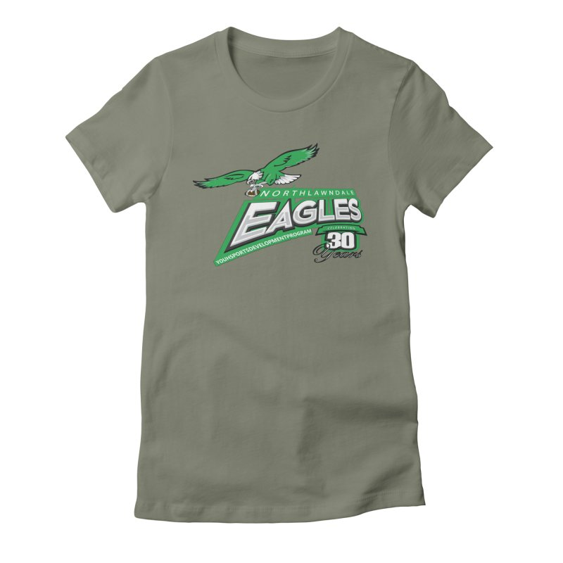 North Lawndale Eagles 30 Year Anniversary Women's Fitted T-Shirt by J. Brantley Design Shop