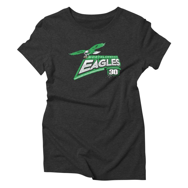 North Lawndale Eagles 30 Year Anniversary Women's Triblend T-Shirt by J. Brantley Design Shop