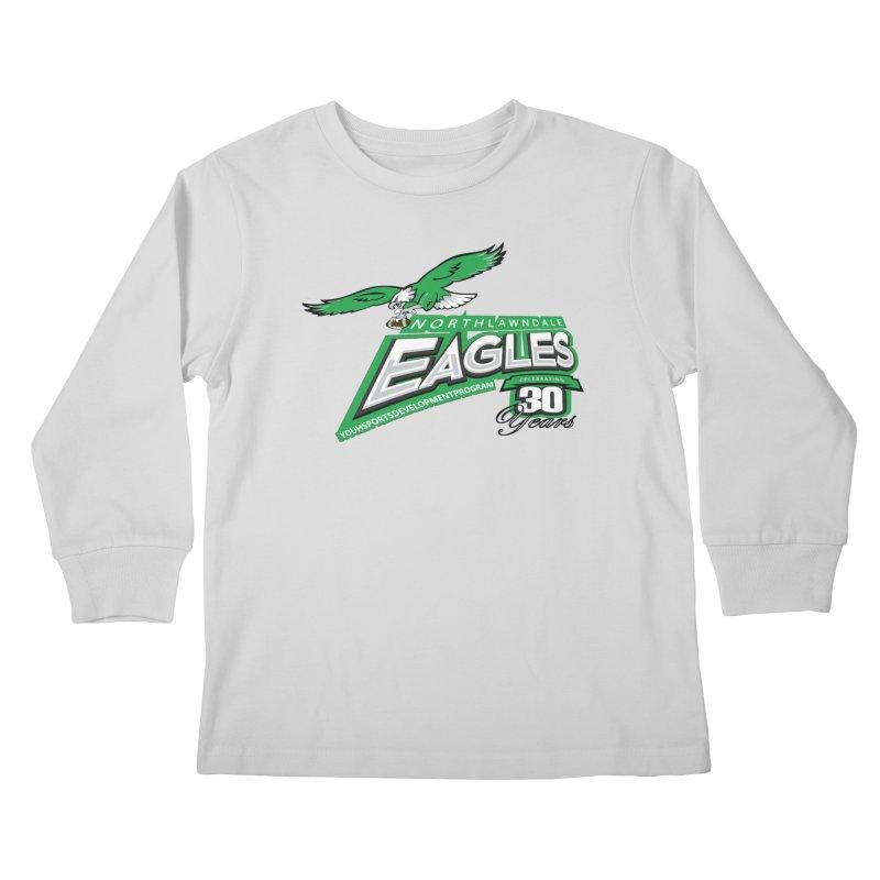 North Lawndale Eagles 30 Year Anniversary Kids Longsleeve T-Shirt by J. Brantley Design Shop