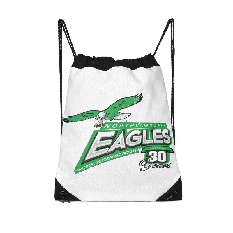 North Lawndale Eagles 30 Year Anniversary Accessories Drawstring Bag Bag by J. Brantley Design Shop