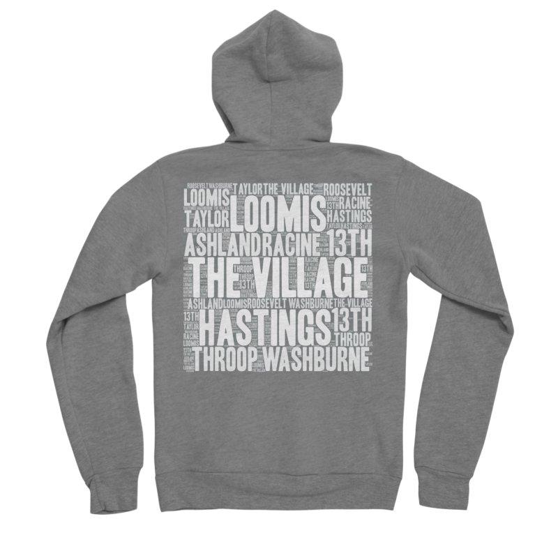 I'm from the Village (white) Women's Sponge Fleece Zip-Up Hoody by J. Brantley Design Shop