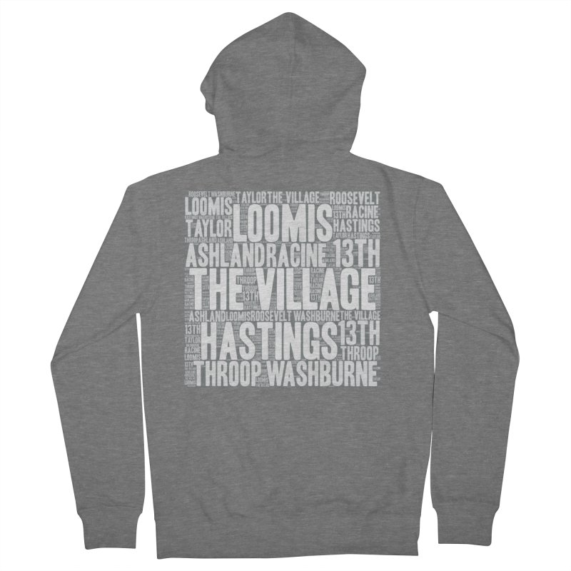 I'm from the Village (white) Women's French Terry Zip-Up Hoody by J. Brantley Design Shop