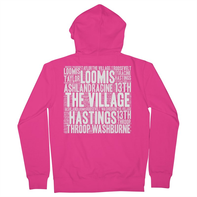 I'm from the Village (white) Men's French Terry Zip-Up Hoody by J. Brantley Design Shop