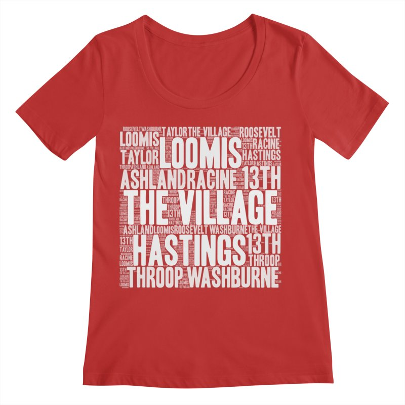 I'm from the Village (white) Women's Regular Scoop Neck by J. Brantley Design Shop